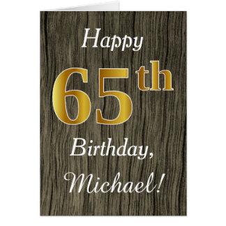 Het Hout van Faux, Gouden 65ste Verjaardag Faux + Kaart