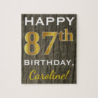 Het Hout van Faux, Gouden 87ste Verjaardag Faux + Puzzel