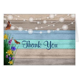 Het Hout van Wildflower - dank u Briefkaarten 0