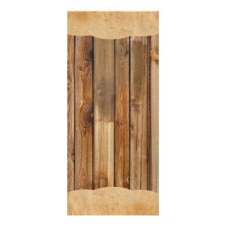 Het houten Menu van het Programma van het Huwelijk