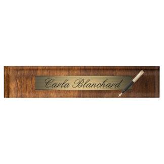 het houten naambord van de textuurpen