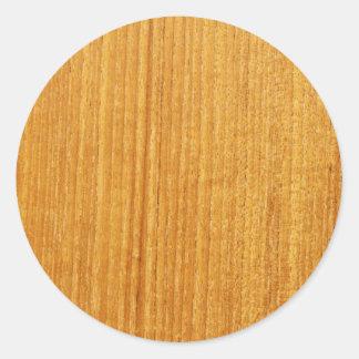 Het houten Patroon van de Korrel Ronde Sticker