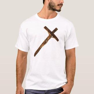 Het houten T-shirt van het Kruisbeeld