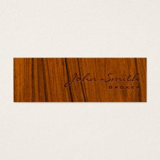 Het houten Visitekaartje van de Makelaar van de Mini Visitekaartjes