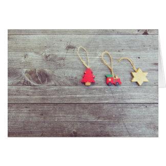 Het houten Wenskaart van Kerstmis Trinkets Kaart