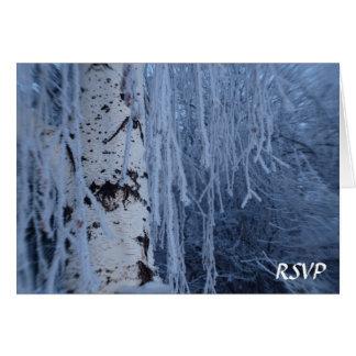 Het Huilen van de winter het Huwelijk RSVP van de Briefkaarten 0