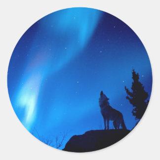 Het Huilen van de wolf Ronde Sticker