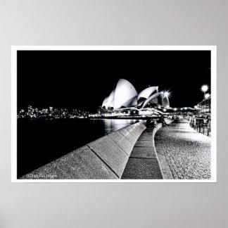Het Huis B&W van de Opera van Sydney Poster