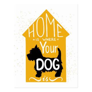Het huis is waar de Hond is Briefkaart