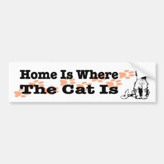Het huis is waar de Kat sticker voor kattenmensen