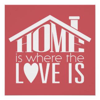 Het huis is waar de Liefde is Perfect Poster