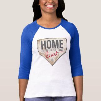 Het huis is waar het Hart - Honkbal T is T Shirt