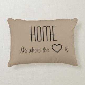 Het huis is waar het hart hoofdkussen is decoratief kussen