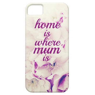 "Het ""huis is waar Mum "" is Barely There iPhone 5 Hoesje"