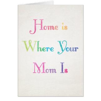 Het huis is waar Uw Mamma de Kaart van het