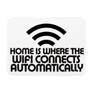 Het huis is waar Wifi automatisch verbindt Rechthoekige Magneet