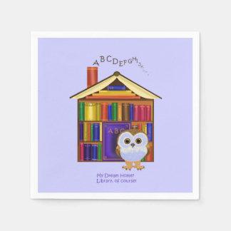 Het Huis van de droom - Bibliotheek! Wegwerp Servetten