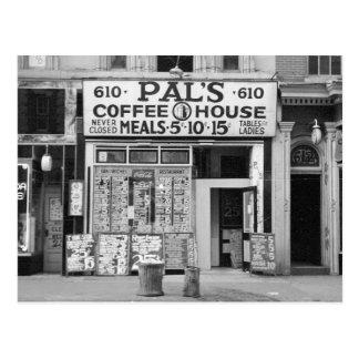 Het Huis van de Koffie van de vriend, 1939 Briefkaart