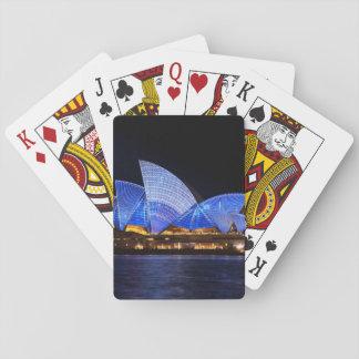Het Huis van de Opera van Australië Sydney bij Pokerkaarten