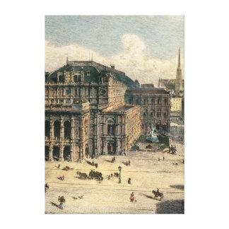 Het Huis van de Opera van de Staat van Wenen, c.18 Canvas Afdruk