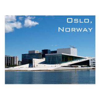 Het Huis van de Opera van Oslo in Noorwegen op een Briefkaart