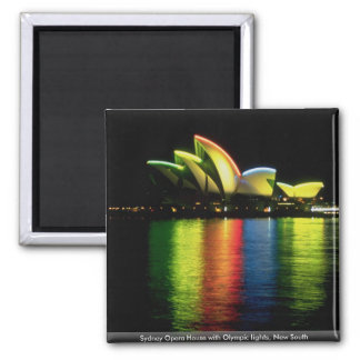 Het Huis van de Opera van Sydney met Olympische Vierkante Magneet