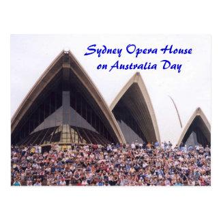 Het Huis van de Opera van Sydney op de Dag van Briefkaart