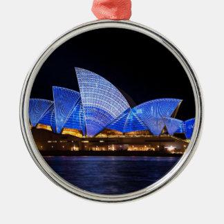 Het Huis van de Opera van Sydney Zilverkleurig Rond Ornament