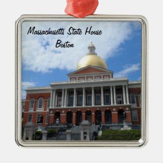 Het Huis van de Staat van Massachusetts, Boston Zilverkleurig Vierkant Ornament