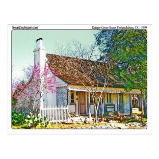 Het Huis van Geyer van Krieger, Fredericksburg, TX Briefkaart