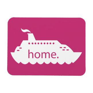 Het Huis van het Schip van de cruise - heet roze Magneet