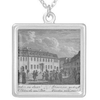 Het huis van Johan Wolfgang von Goethe binnen Zilver Vergulden Ketting