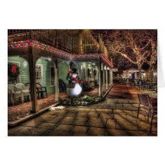 Het Huis van Lit van Kerstmis met de Kerstkaart Briefkaarten 0