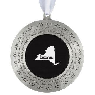 Het Huis van New York Tin Rond Ornament