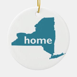 Het Huis van New York Rond Keramisch Ornament
