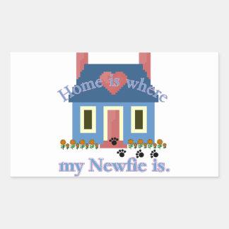 Het Huis van Newfoundland is Rechthoekige Sticker