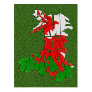 Het Huis van Wales van Rugby Briefkaart