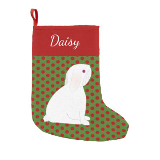 Het huisdier snoeit het Witte Gepersonaliseerde Kleine Kerstsok