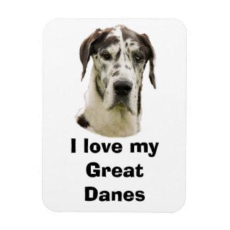 Het huisdierenfoto van Great dane van Halequin Magneet
