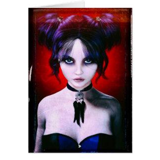Het humeurige Portret van het Meisje van de Gothic Kaart