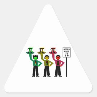 Het humeurige Trio van het Rood licht naast het Driehoekige Sticker