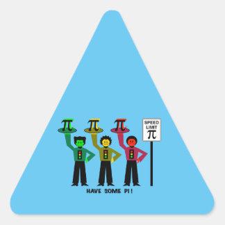 Het humeurige Trio van het Rood licht naast het Driehoekige Stickers