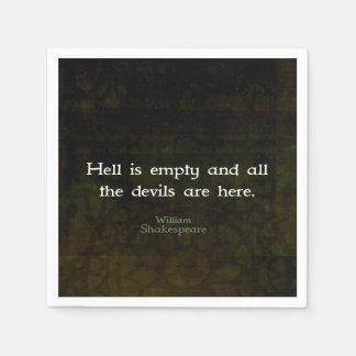 Het Humoristische Geestige Citaat van William Papieren Servetten