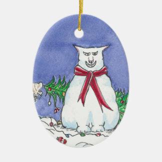 Het humoristische Ornament van Kerstmis van de Kat
