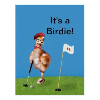 Het humoristische SpeelGolf van de Vogel, Briefkaart