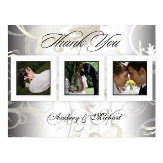 Het huwelijk dankt u briefkaartentussenvoegsel uw briefkaart