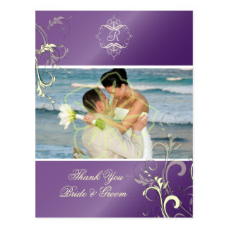 Het huwelijk dankt u de briefkaarten van de Foto,