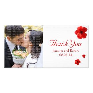 Het huwelijk dankt u de Kaart van de Foto