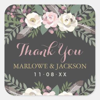 Het huwelijk dankt u Stickers | Herfst Vintage