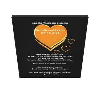 Het Huwelijk dat van Apache Gouden Harten zegent Canvas Print